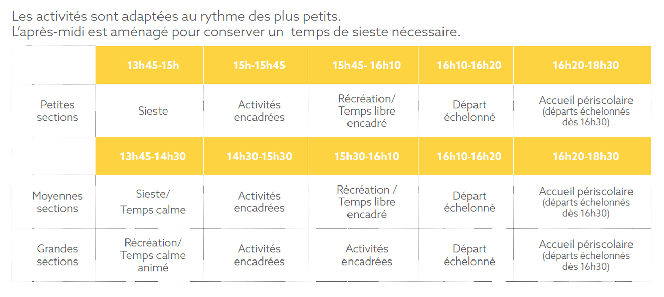 horaires tap clichy maternelle
