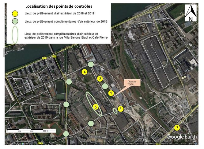 Chantier réhabilitation dépôt Saint-Ouen Total Point de controle